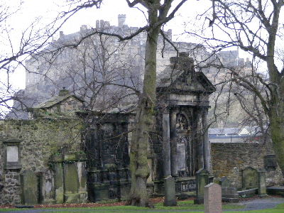 Edinburgh Castle from Greyfriars Kirkyard