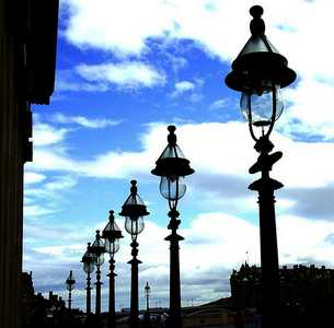 Lamps at Royal Scottish Academy, Edinburgh