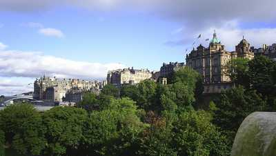 View towards part of the Old Town, Edinburgh