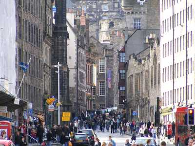 View to Lawnmarket and Castlehill