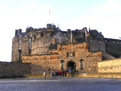 Main entrance to Edinburgh Castle