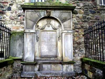 Adam Smith's grave at Canongate Kirkyard, Edinburgh