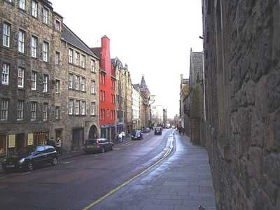 View down the Canongate