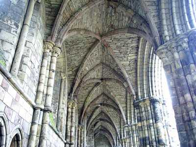Gothic vaulted roof