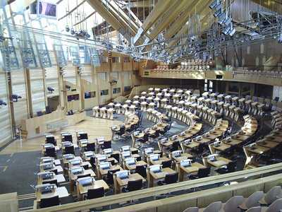 The Scottish Parliament Main Chamber
